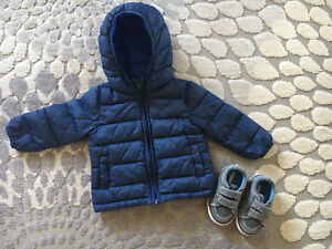 Warm jacket and shoes