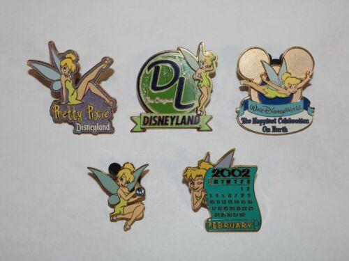 (LOT OF 5) Disney Tinker Bell Pins (Pretty Pixie, Disneyland, Aquamarine & More)