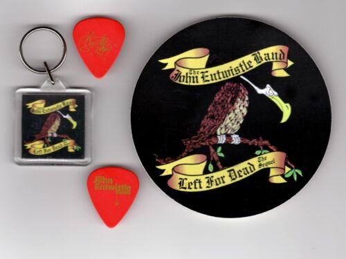 The Who John Entwistle Band 1996 Left For Dead Fan Pack Picks Keychain Sticker