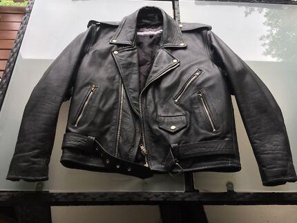 Biker motorcycle Brando leather jacket R jays