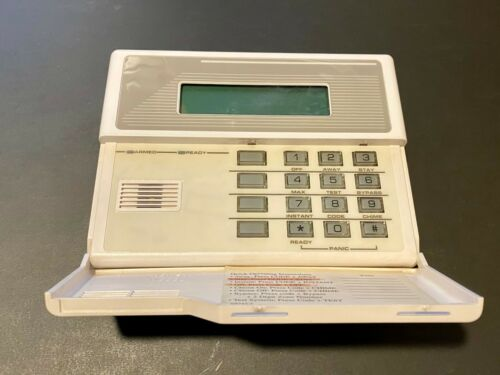 Ademco Honeywell 6139 Keypad Alpha Programming Vista Alarms with wire harness