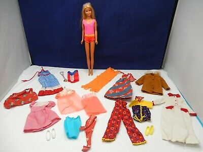 VINTAGE BARBIE FRANCIE MOD 1970's LARGE LOT MALIBU DOLL w/ HTF BEST BUY CLOTHING