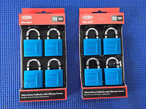 Lockwood 30mm Alloy Silicon Padlock - 4 Pack Brunswick East Moreland Area Preview