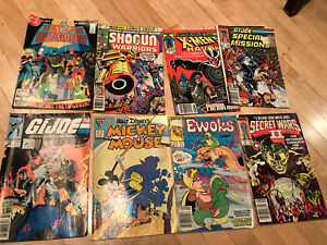 64 assorted Bronze Age comics