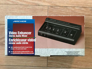 Video enhancer stereo audio mixer