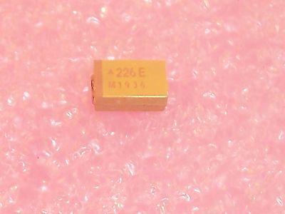 Qty 100 22uf 25v 10 D Case Smd Tantalum Capacitors Tajd226k025 Avx