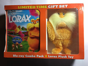 Dr Seuss The Lorax Blu ray and Plush gift set
