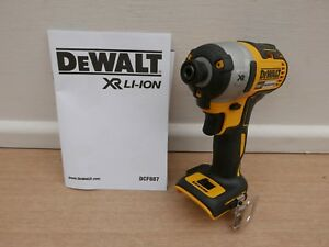 DEWALT XR 18V DCF887 3 SPEED BRUSHLESS IMPACT DRIVER BARE UNIT + FREE DT7908