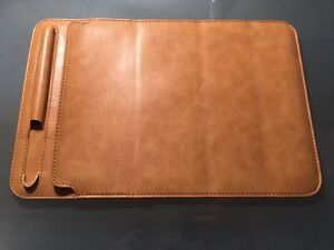 IPad Pro 10.5 leather case with slot for Apple Pencil.