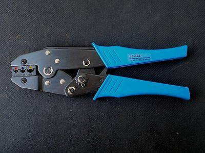 Insulated Ratcheting Crimp Tool Plier Crimper 22-10awg Ls-30j