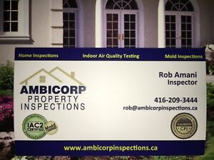 CERTIFIED HOME INSPECTOR. Awarded #1 by GTA clients 416-209-3444