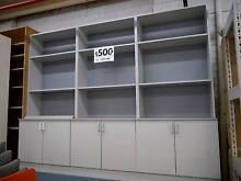 Home Office Grey Storage Cabinet Bookcase Unit Adjustable Shelves Melbourne CBD Melbourne City Preview