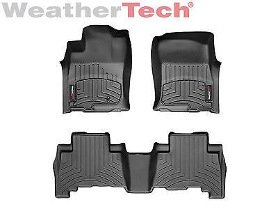 WeatherTech Custom Floor Mat FloorLiner for GX460/4Runner - 1st/2nd Row - Black - Custom Floor Runners