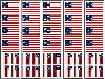 40 Tattoos: United States Of America Flag, American Patriotic Party Favors U.S. - Party Of America