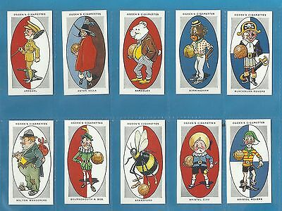 Ogdens cigarette cards - FOOTBALL CLUB NICKNAMES - Full mint condition set.