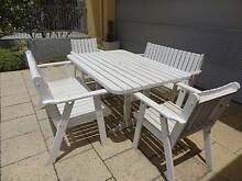 5 piece solid wood outdoor setting Glen Innes Glen Innes Area Preview
