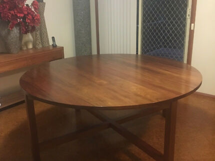 Hardwood solid timber round table 1.8 metres . Seats 8-10