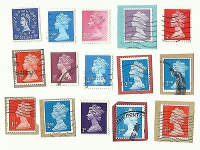 UK Royal Mail Postage Stamps with perforation shift errors  x 15 (Batch 3)