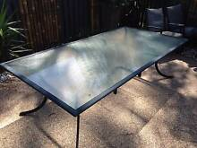 Large aluminium outdoor dining table/setting Southport Gold Coast City Preview