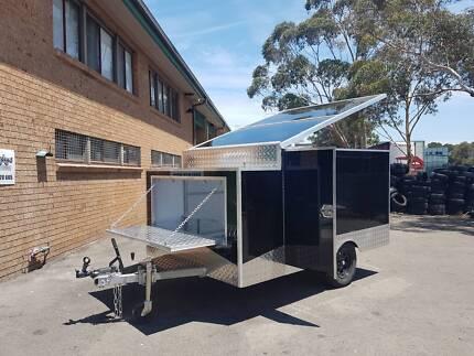 Black Motorbike Camping Enclosed Trailer | 3 Bike / 600 kg Ingleburn Campbelltown Area Preview
