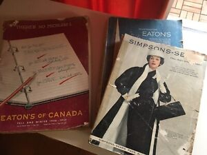 Vintage Eaton's and  Simpson Sears store catalogues