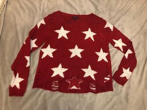 Red and white star shirt