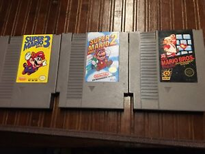 Mario bros 1,2,3 for original Nintendo. Nes