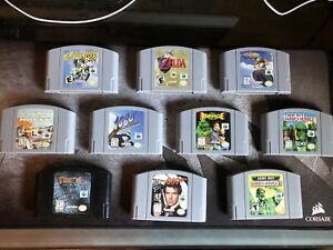 N64 Games . Cleaned and Tested . Excellent Condition