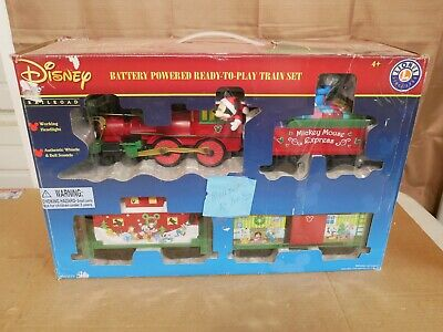 Lionel Mickey Mouse Express Disney G-Gauge Christmas Train Set 7-11773 **READ