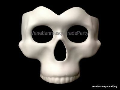 DIY Halloween Skeleton Day of the Dead Polyresin Perfect for Painting Skull Mask (Paint For Halloween)