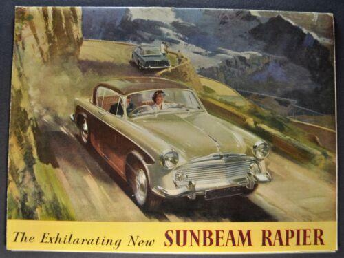 1957 Sunbeam Rapier Sales Brochure Folder Excellent Original 57