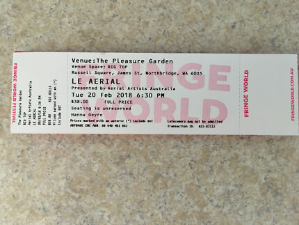 La Aerial ticket (fringe world)