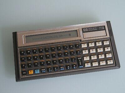 Taschenrechner Hewlett Packard HP 71b mit HP-IL, gebr. voll funktionstüchtig