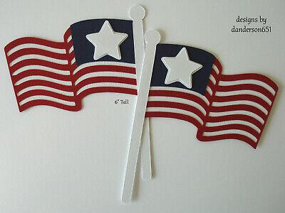 FLAGS PATRIOTIC Die Cut PreMade Paper Piecing Border Scrapbooking danderson651