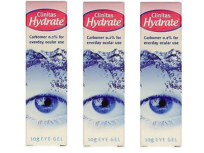 Clinitas Hydrate Liquid Eye Gel For Dry Eye Treatment 10g x 3 Packs