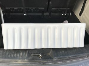 Reversible fluted fireclay sink