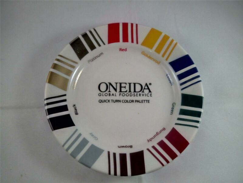 "Oneida Global Foodservice Sample Color Palette Plate 6"" Buffalo China 1980"