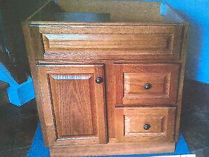 Solid oak vanity- never used