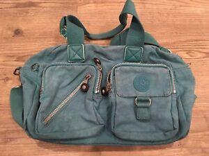 Kipling Defea Teal Shoulder Bag