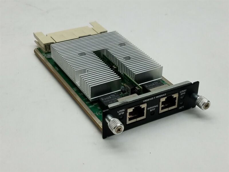 Dell PowerConnect X901C 0X901C 6200-XGBT 10GBASE-T Dual Port Module 6224 6248