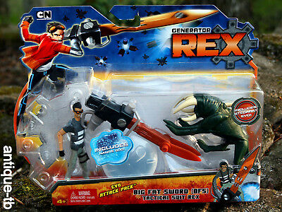 GENERATOR REX EVO ATTACK PACK BIG FAT SWORD TACTICAL SUIT BFS FIGURE NEW 2010