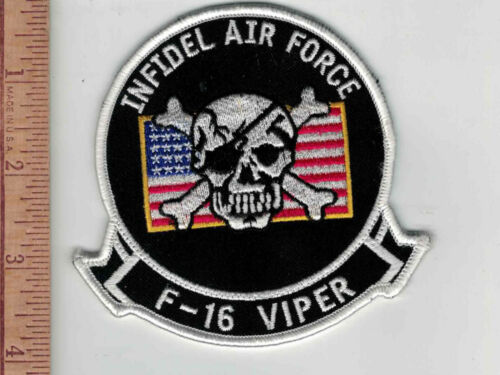 F-16 Viper Infidel Air Force Patch