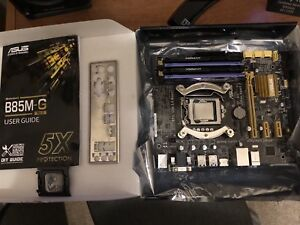 Intel I5 4570 3.2 GHz with Asus B85M-G MB
