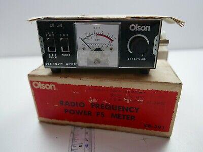 Vintage Olson Radio Frequency Powerfs Meter Cb-391 Tested Good Working Order