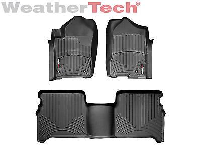 Weathertech Floor Mats Floorliner For Nissan Titan Crew Cab  2008 2015 Black
