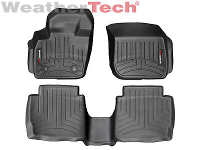 WeatherTech Custom Floor Mat FloorLiner for Fusion/MKZ - 1st/2nd Row - Black