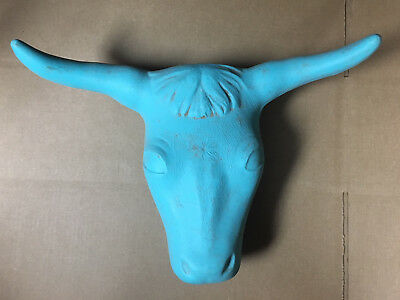 Roping Steer Head dummy rodeo practice team rope turquoise blue bull cow