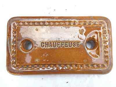 Antiker Wärmestein Wärmespender mit Herstellermarke RAR