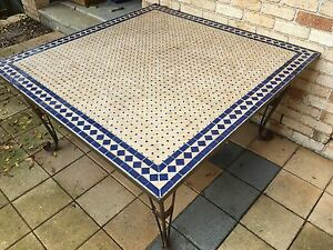 Mosaic Tiled Outdoor Table Kellyville The Hills District Preview