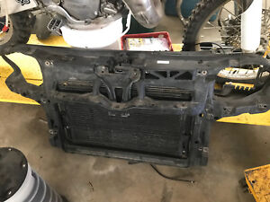 2002 Jetta MK4 Radiator with Support and Condenser 00-05 1.8 T